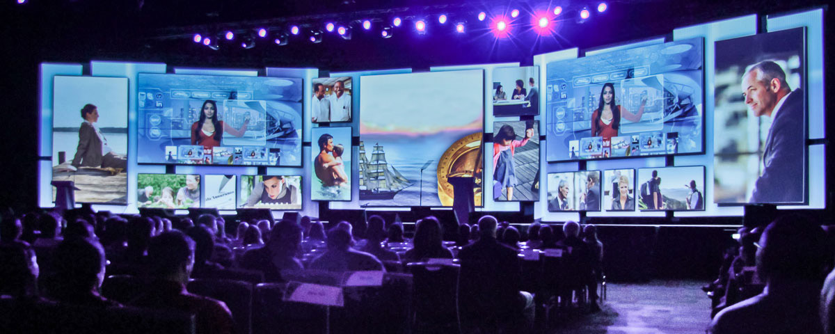 Large conference presentation photo