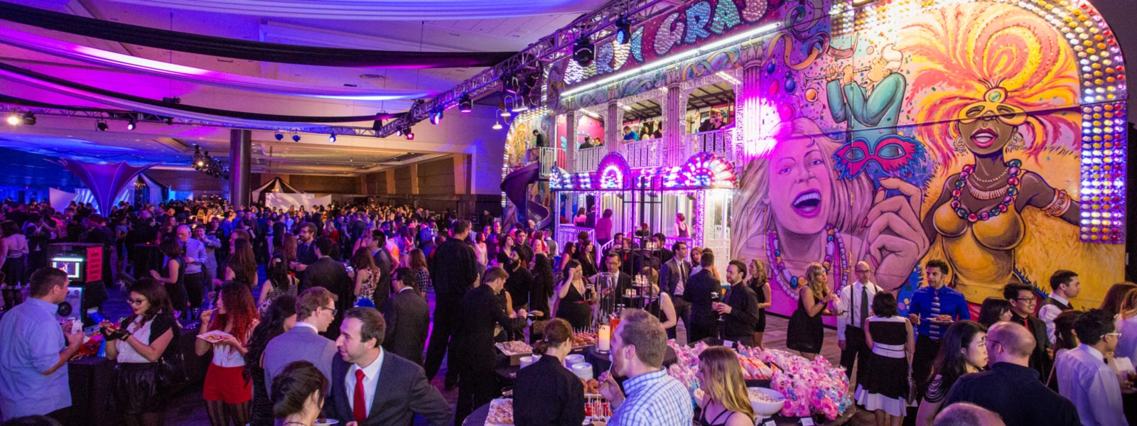 Corporate event photo for EA Cirque night