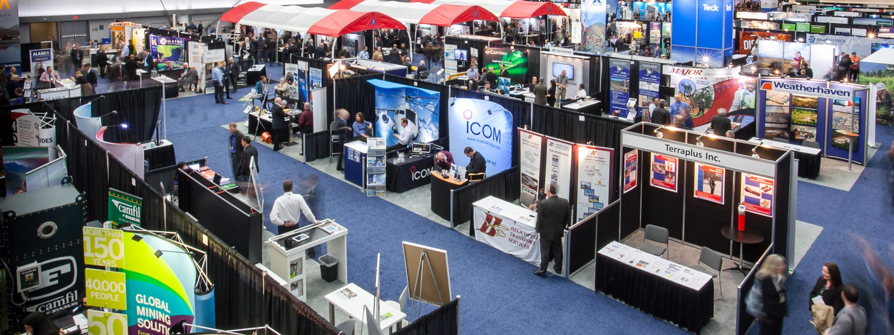 Conference photo - Aerial. Tradeshow booths